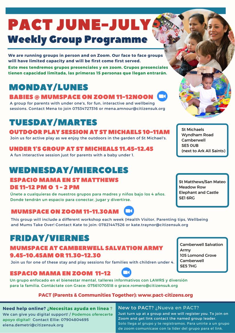 June- July Programme
