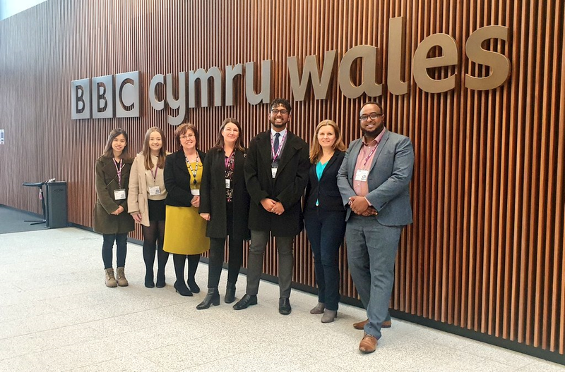 Citizens Cymru Wales leaders at ITV studios