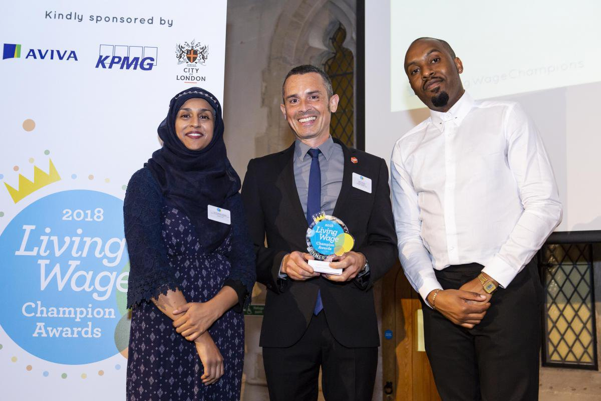 Citizens UK Chair Kaneez Shaid at the Living Wage Week Awards