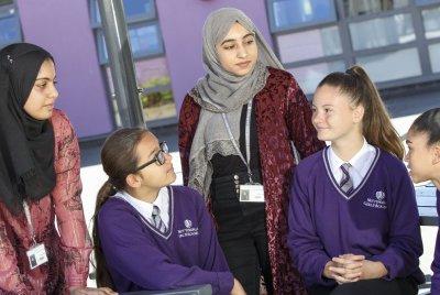 Nottingham girls academy group shot