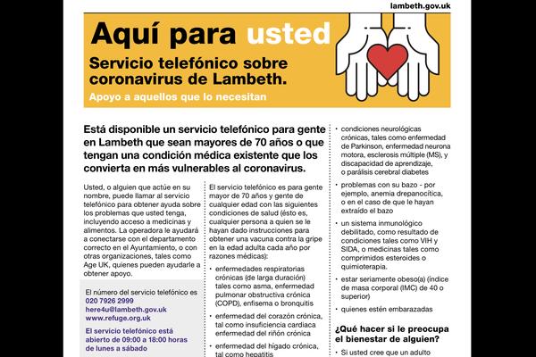 Lambeth Talk - Lambeth Council's newsletter now in Spanish!
