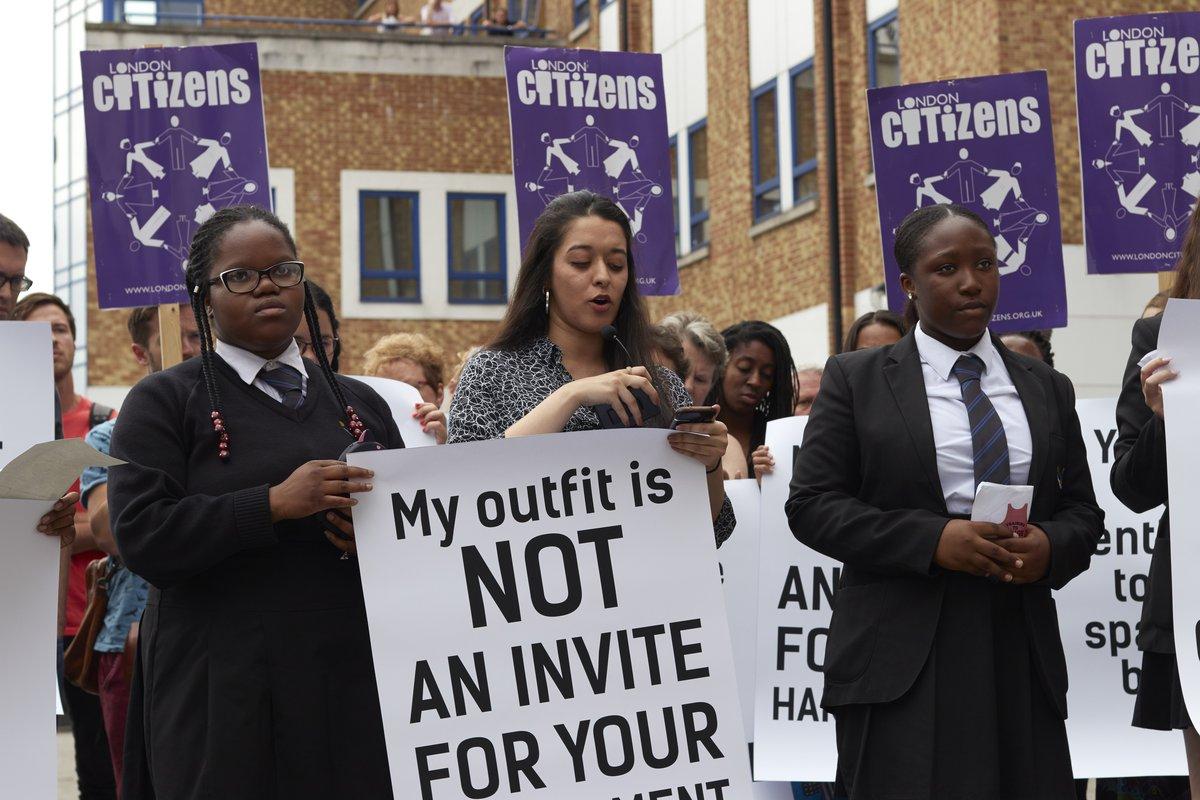 Violence against women protest public march with London citizens