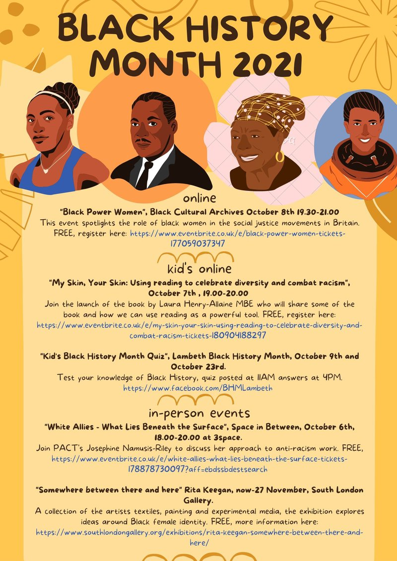 Black History Month 2021 Activity Links