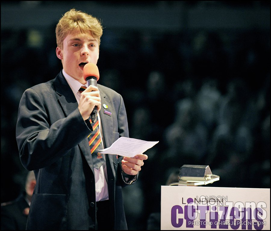 Dylan, St. Paul's Academy speaks to Sadiq Khan and 6000 Londoners