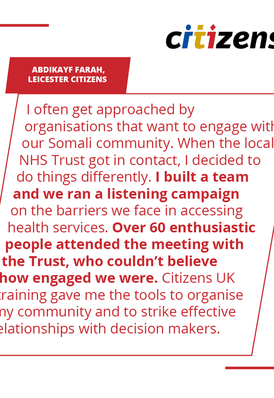 Abdikayf Farah, Leicester & Leicestershire Citizens, training quote